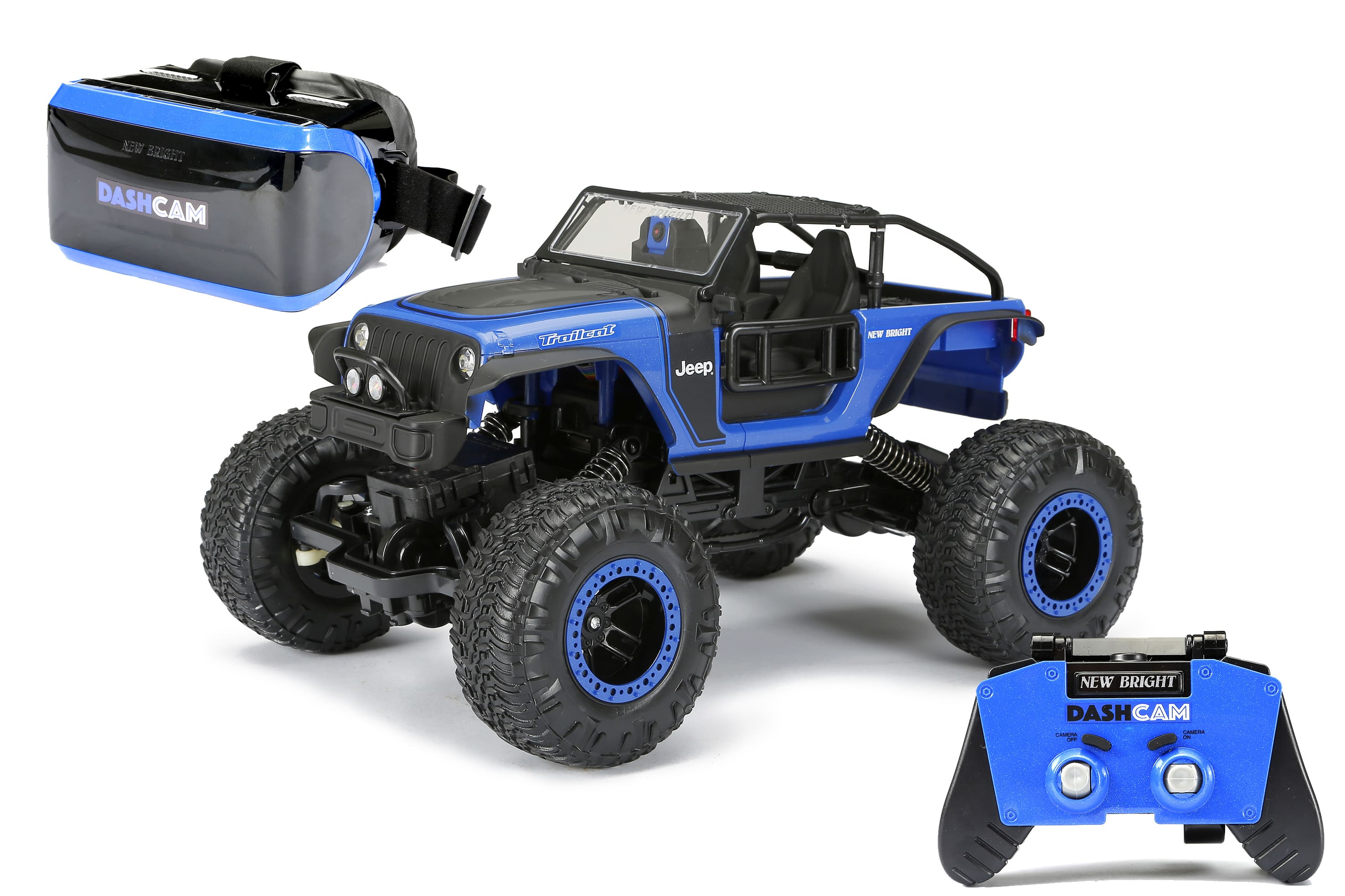 Bright RC Rock Crawler Jeep Trailcat w/ VR Dash Cam $13 (In Store) YMMV