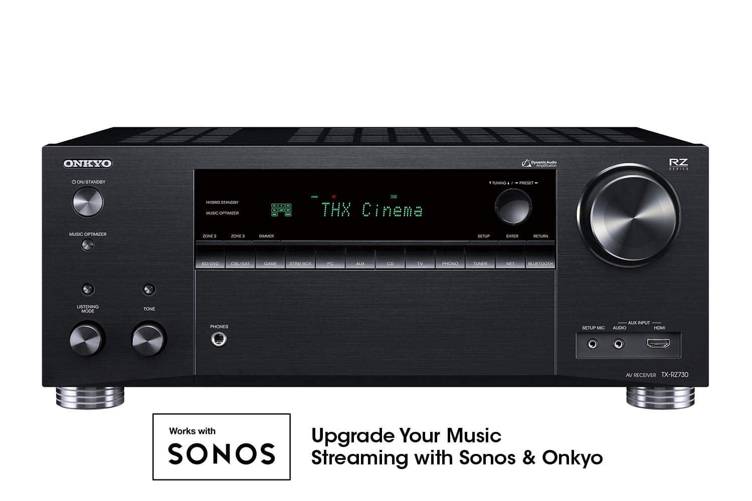 Onkyo TX-RZ730 9.2 Channel 4k Network A/V Receiver Black $500 + Free Shipping
