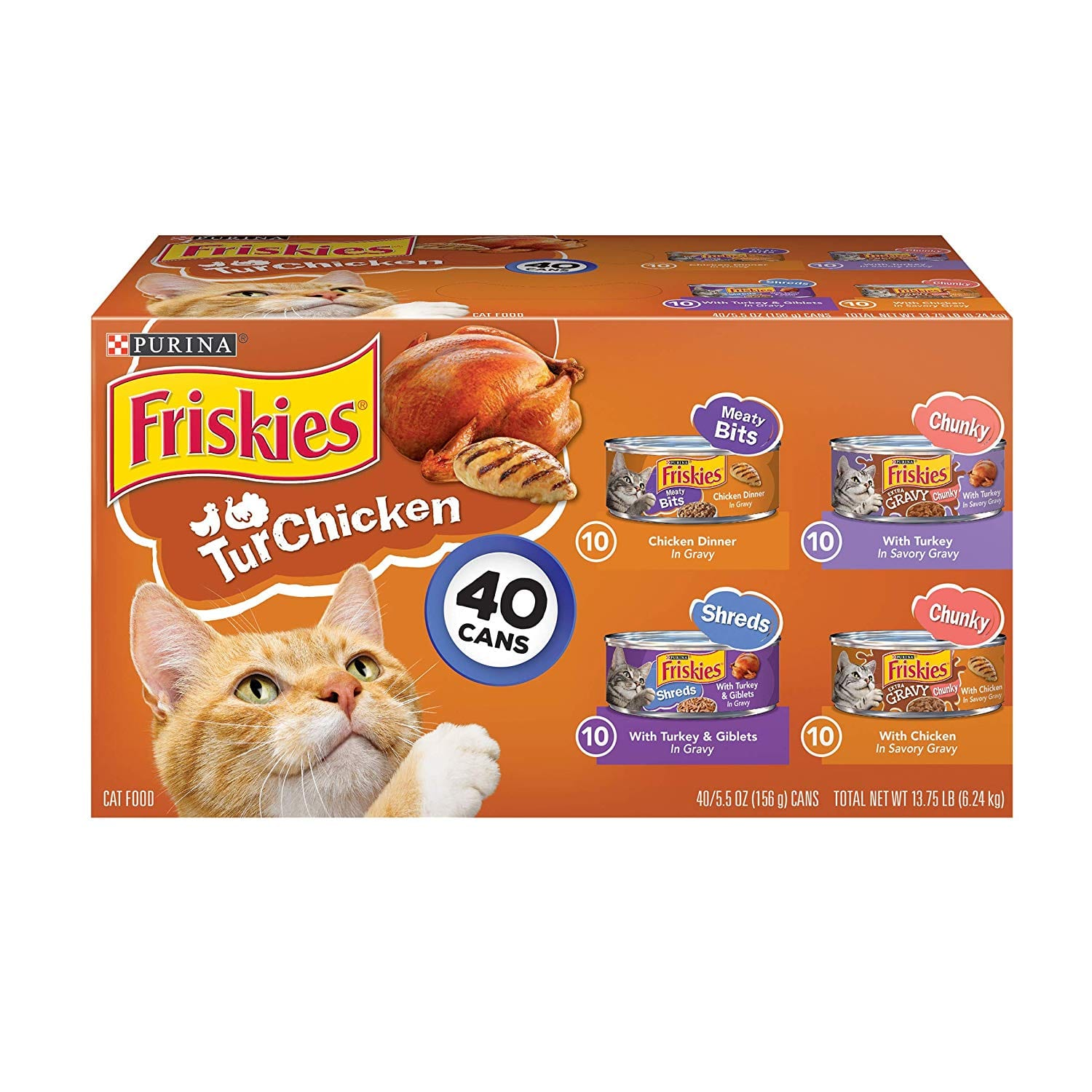 Purina Friskies Canned Wet Cat Food 40 ct. Variety Packs $7 w/ S&S YMMV