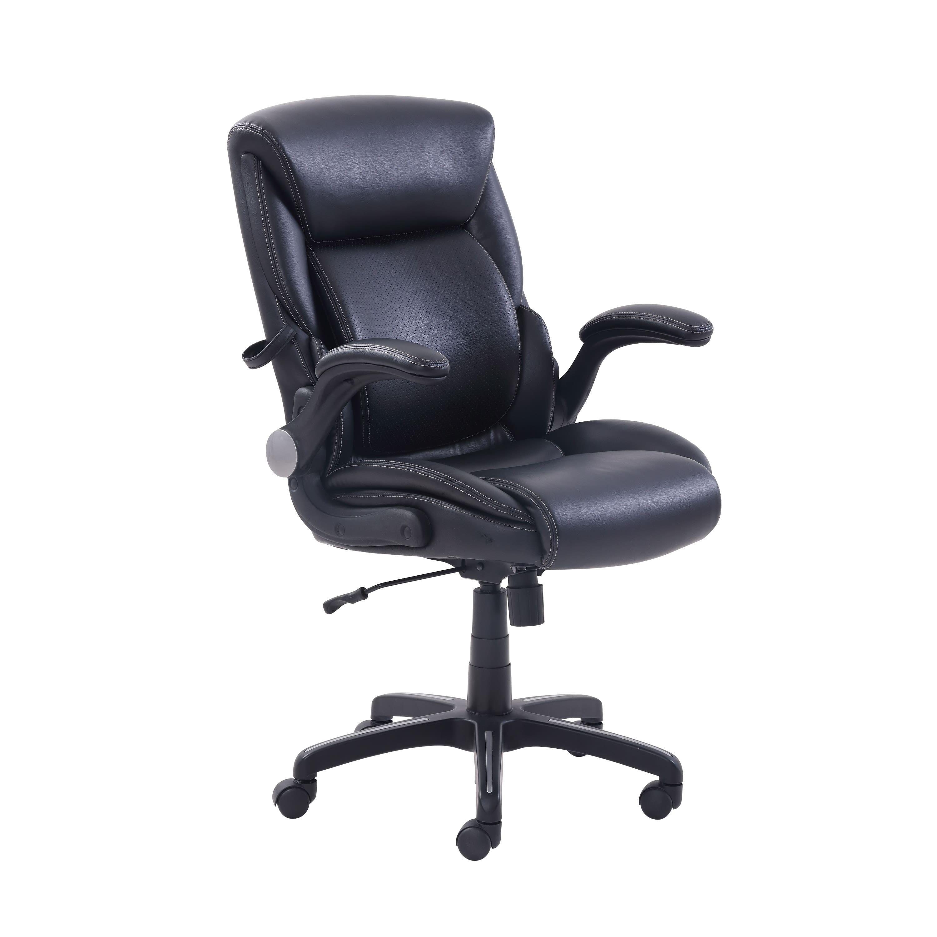 Serta AIR Lumbar Bonded Leather Manager's Office Chair (Gray) $72 + Free  Shipping