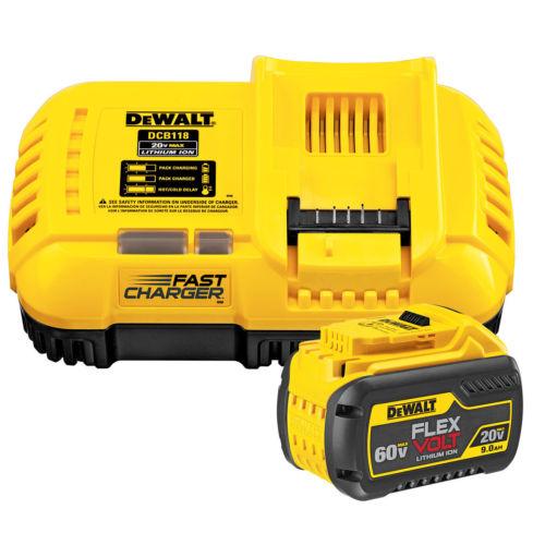 DEWALT DCB118X1 Flexvolt 20v/60v Max Lithium Charger & 9.0ah Battery $138.99