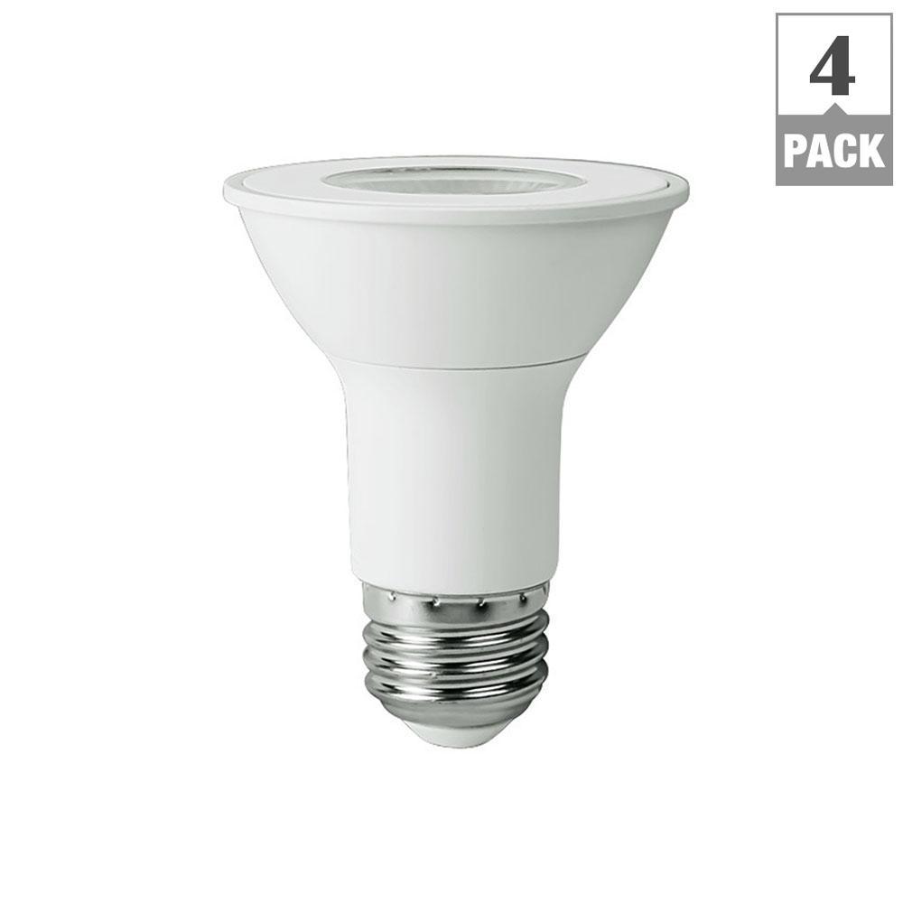 $6 + Free SHIP - 4-PACK 50-Watt Equivalent PAR20 LED Flood Light Bulb, Bright White