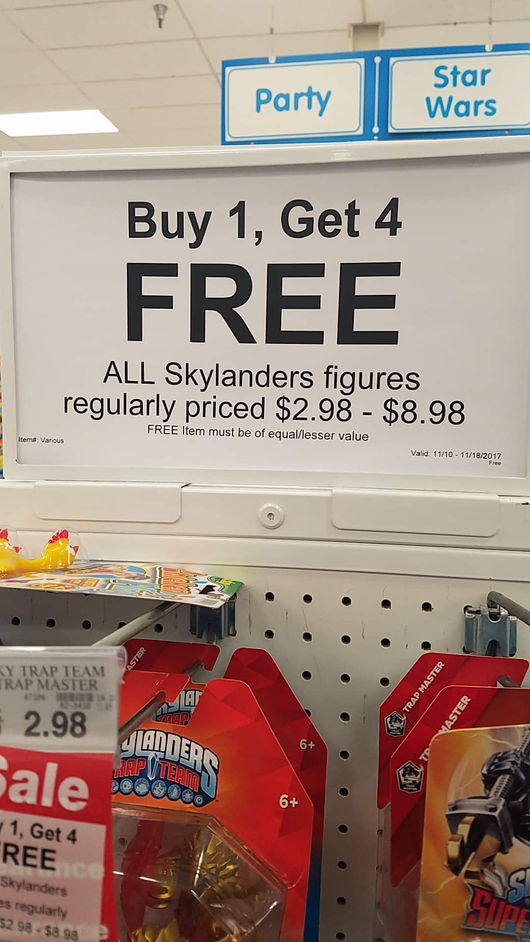 Toys R Us skylanders are B1G4 free  - many priced at $2.98 YMMV