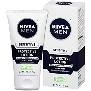 NIVEA Men Sensitive Protective Lotion (Pack of 3) $9.15