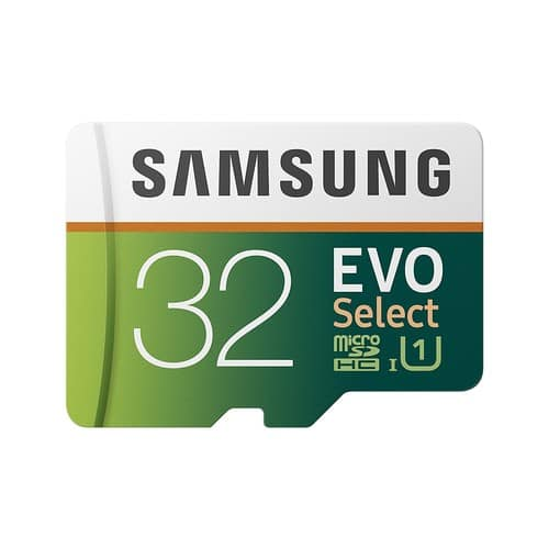 Samsung 32GB 95MB/s (U1) MicroSD EVO Select Memory Card with Adapter (MB-ME32GA/AM) $11.99