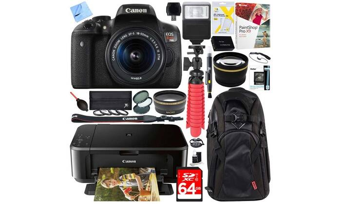 Canon EOS Rebel T6 18MP 1080p DSLR Bundle $429