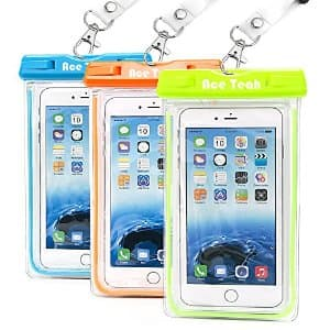 $9.99 for 3-Pack of Ace Teah Waterproof Case, AC @ Amazon