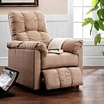recliner - sears - Dorel Home Furnishings Slim Beige Microfiber Recliner -$140