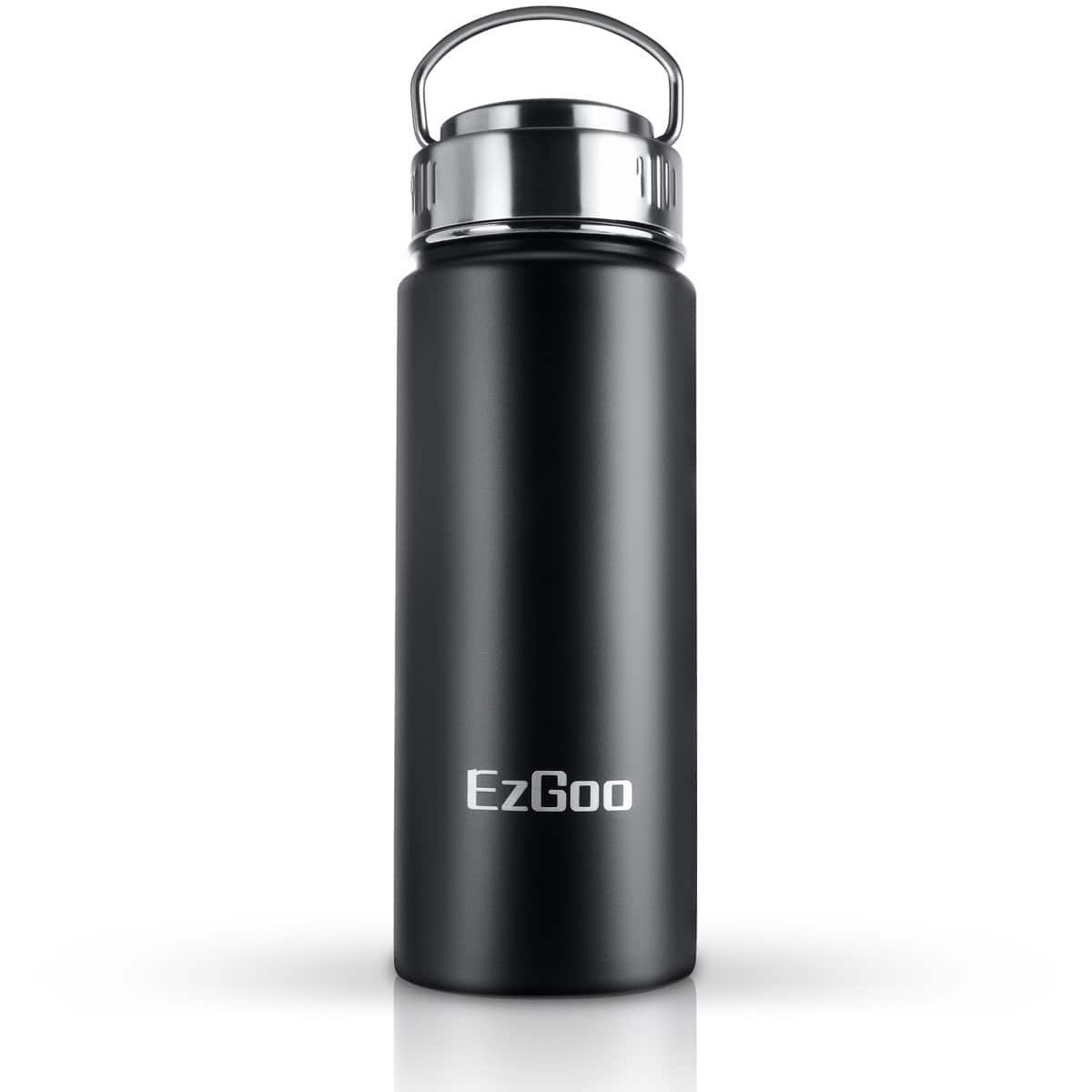 EzGoo Stainless Steel BPA Free Double Wall Vacuum Insulated Leak Proof Water Bottle $7.99