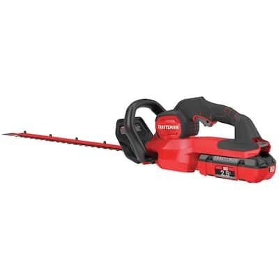CRAFTSMAN V60 60-volt Max 24-in Dual Cordless Electric Hedge Trimmer (Battery Included) $87.6