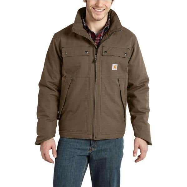 Carhartt Men's Canyon Brown Cotton/Polyester Quick Duck Jefferson Traditional Jacket @ Home Depot $69.99