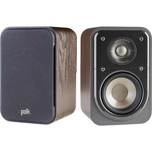 Polk Signature S10 satellite speaker (pair), brown walnut - $119.95 FS