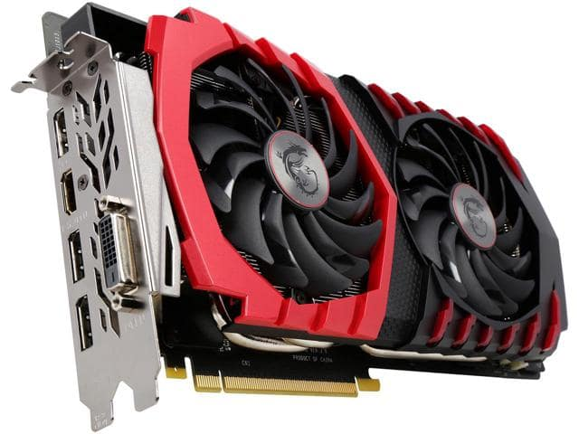 MSI GeForce GTX 1080 $649.99