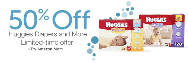 Huggies Snug and Dry Diapers, Size 4, 192 Count $10.15 & More for *NEW* Amazon Mom subscribers with web coupon and S&S