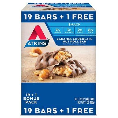 Atkins Snack Bar, Caramel Chocolate Nut Roll, Keto Friendly (20 ct.) $15.48