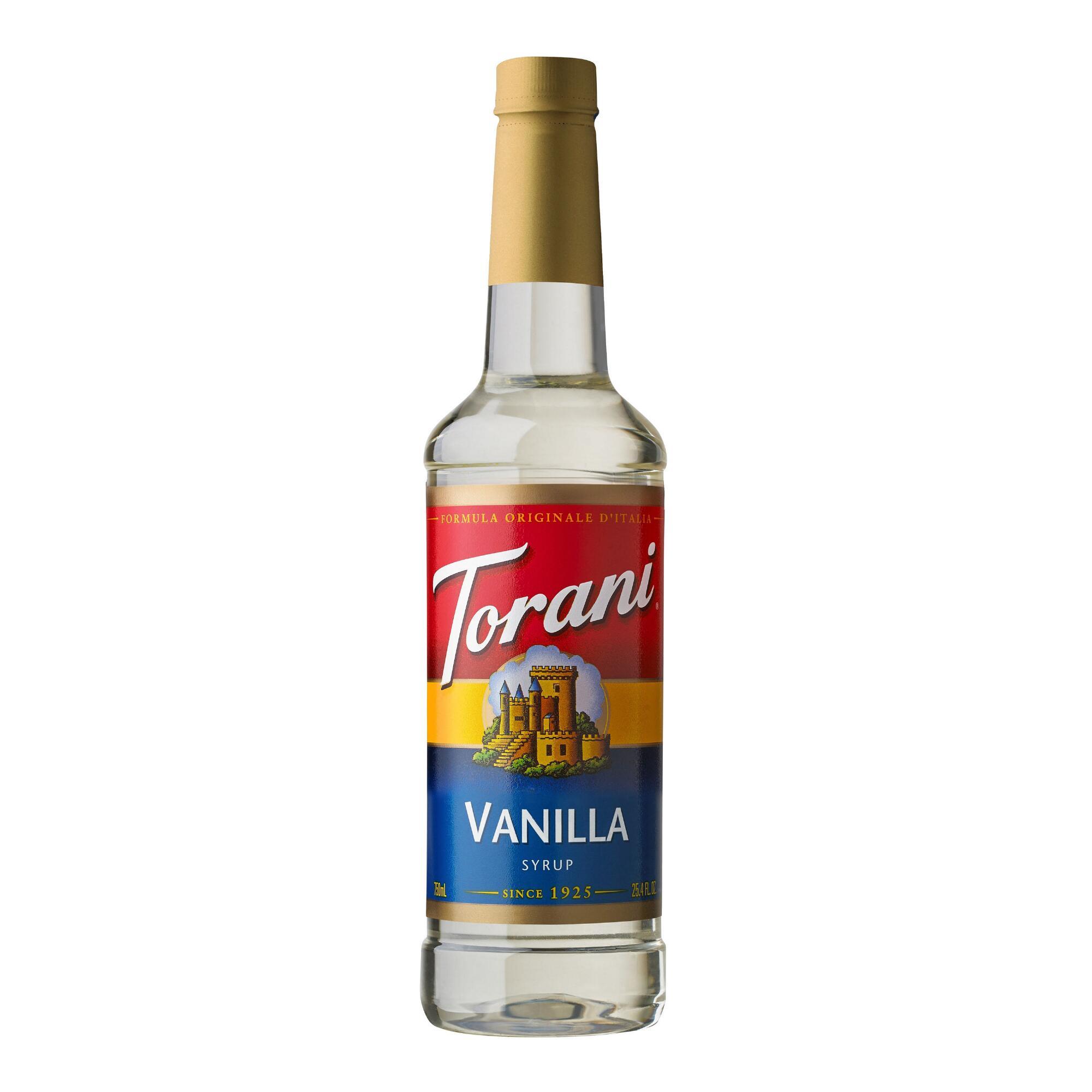 Torani Vanilla Syrup (25.4 fl oz/750 mL) Set Of 4 $12.14