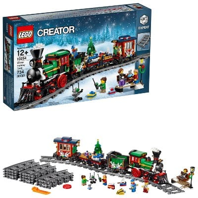 LEGO Creator Expert Winter Holiday Train 10254 Christmas Train Set with Full Circle Train Track, Locomotive, and Spinning Christmas Tree Toy (734 Pieces) $87.39