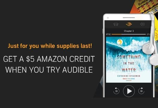Get a $5 Amazon credit when you start a free Audible trial -- Huge YMMV