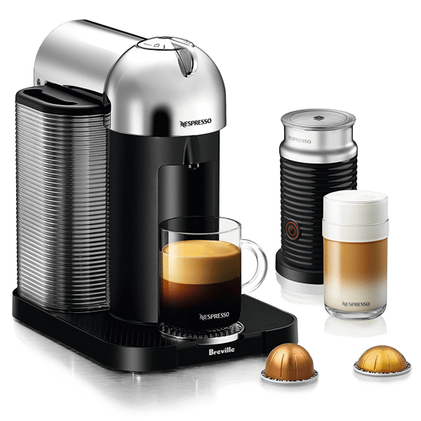 Nespresso Vertuo Espresso & Coffee Machine with Aeroccino 3 Milk Frother (Refurbished) - $84.99