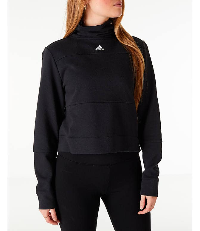 Women's adidas turtleneck crop fleece sweatshirt $25.00