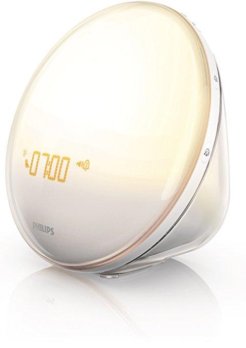 ($25 Off) Philips Wake-Up Light with Colored Sunrise Simulation Alarm Clock HF3520 $72.55