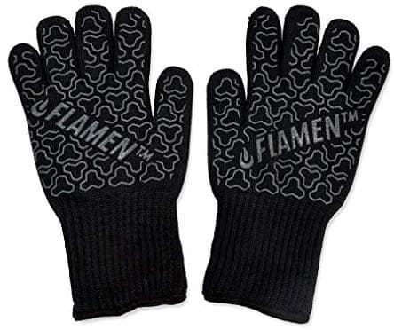BBQ Grill Cooking Gloves 932 °F 500°C Heat Resistant Oven Mitts 13 inch Long Extra Forearm Protection $11.25