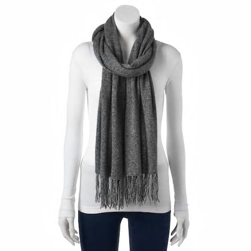 Apt. 9® Fringed Cashmere Oblong Scarf  + free shipping for kohl's card holders $15.12($108)