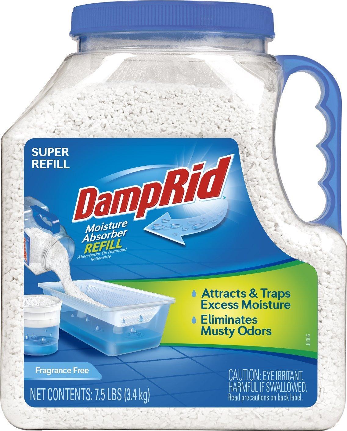 DampRid FG37 Moisture Absorber Refill, 7.5 lb, Fragrance Free $9.97