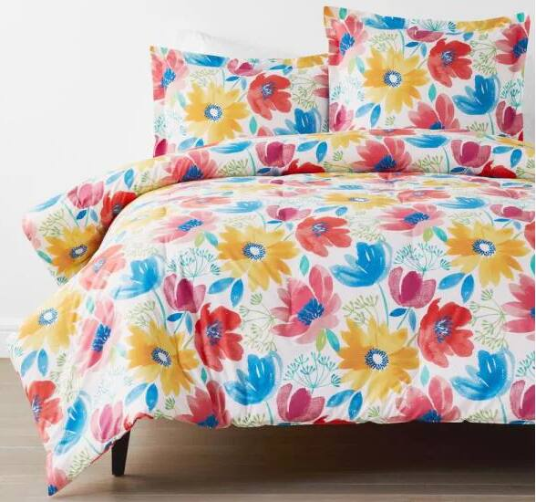 ompany Cotton Blossom Multicolored Floral King Cotton Percale Comforter for  $107.19 @ homedepot