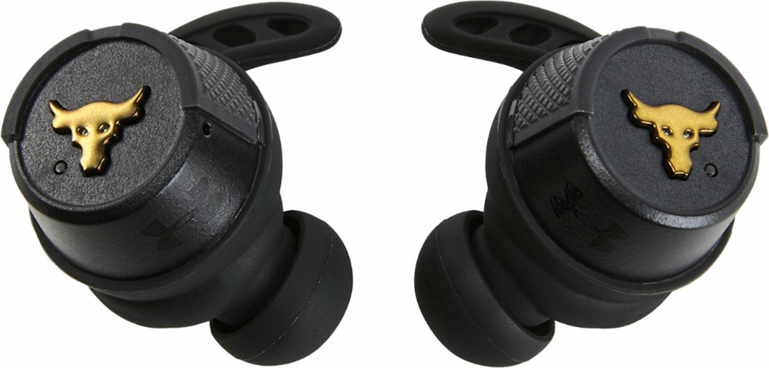 JBL Under Armour Project Rock True Wireless Sport In-Ear Headphones Black UAFLASHROCKBLKAM - Best Buy $89.99