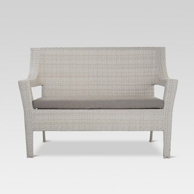 Cool Southcrest Wicker Patio Loveseat Gray Threshold For Andrewgaddart Wooden Chair Designs For Living Room Andrewgaddartcom
