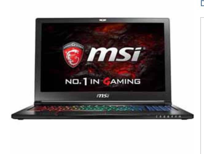 """MSI GS63VR Stealth Pro (GEFORCE® GTX 1060)15.6"""" i7-6700HQ 16GB 1TB HDD - After Rebate $999.99 B&M Only"""