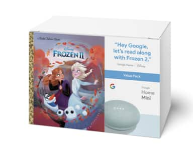 Google Home Mini (Aqua) & Frozen II Book Bundle $15 YMMV B&M