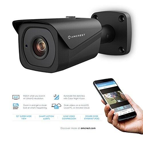 Amcrest UltraHD 4K (8MP) (IP8M-2496EB) POE Bullet Cam $89.99 @ Amazon after coupon