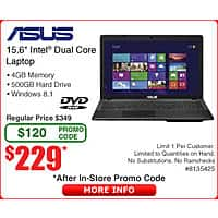 Frys Deal: 20 dollar steam card for 15 dollars and 229 ASUS laptop dual core Frys with promo