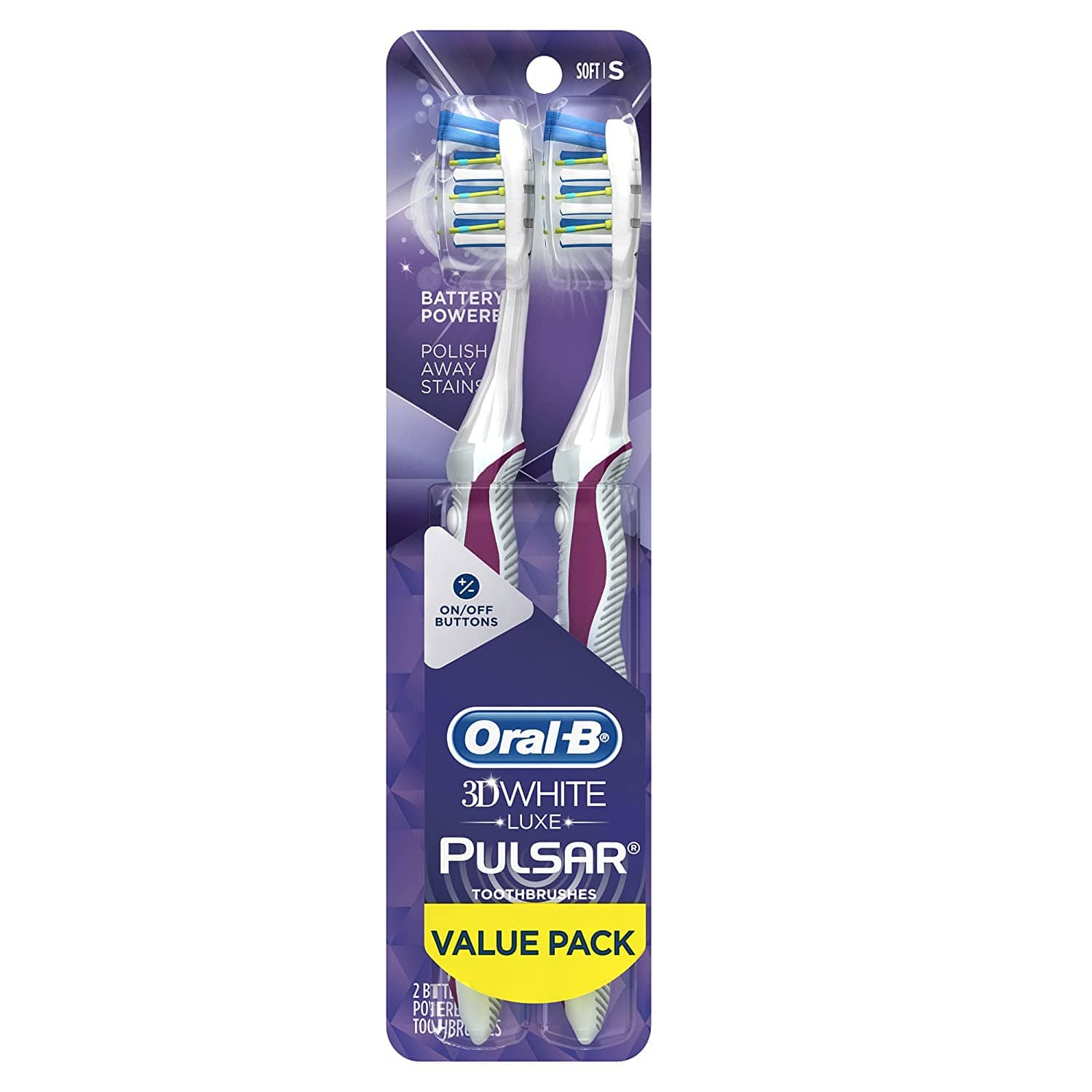 Amazon has Oral-B Pulsar 3d White Advanced Vivid Soft Toothbrush Twin Pack