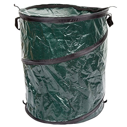 Amazon Offer - Wakeman 33-Gallon Collapsible Trash Can With Zippered Lid  Ideal for Camping Recycling and More (Green)  for $8