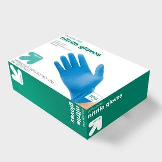 Target has Nitrile Exam Globes -100 act for $ 7.99  only ships with $35 orders