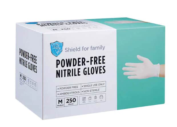 Costco has  Shield for family Powder-free Nitrile Gloves, 250-count for $26.99
