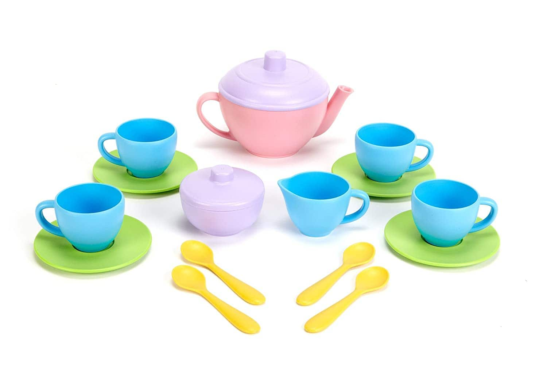 Amazon Offer - Green Toys Tea Set - BPA Free, Phthalates Free Play Toys for Gross Motor, Fine Skills Development. Kitchen Toys $13.99