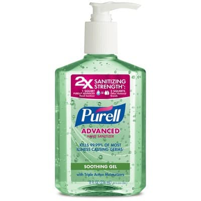 Target has PURELL Advanced Hand Sanitizer Soothing Gel with Aloe and Vitamin E - 8 fl oz for $2.99 + free 2-day shipping on $35 orders & No limit on quantity