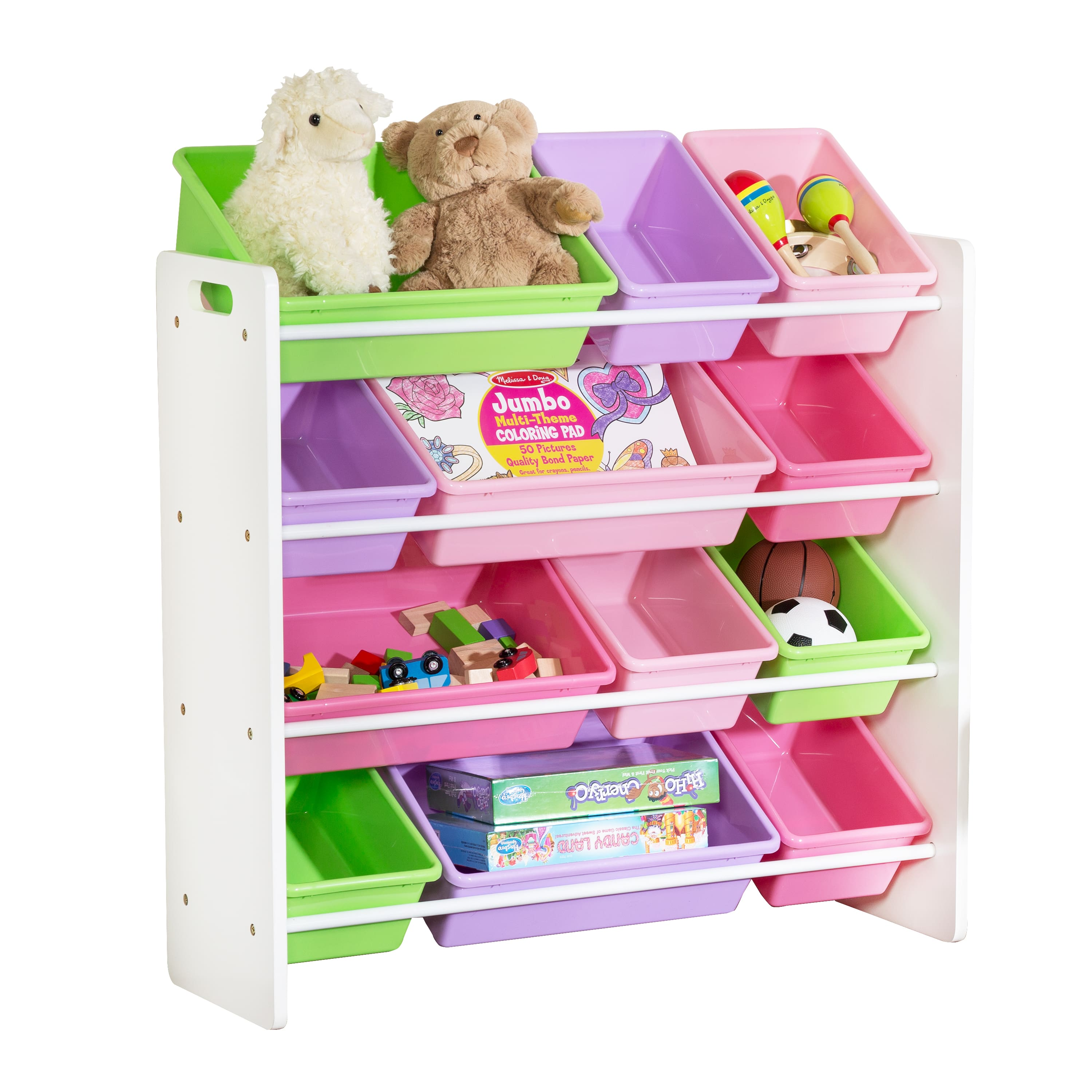 Walmart Offer Honey Can Do Kids Toy Organizer With 12 Storage Bins, Gray for $47.99 + Free Shipping