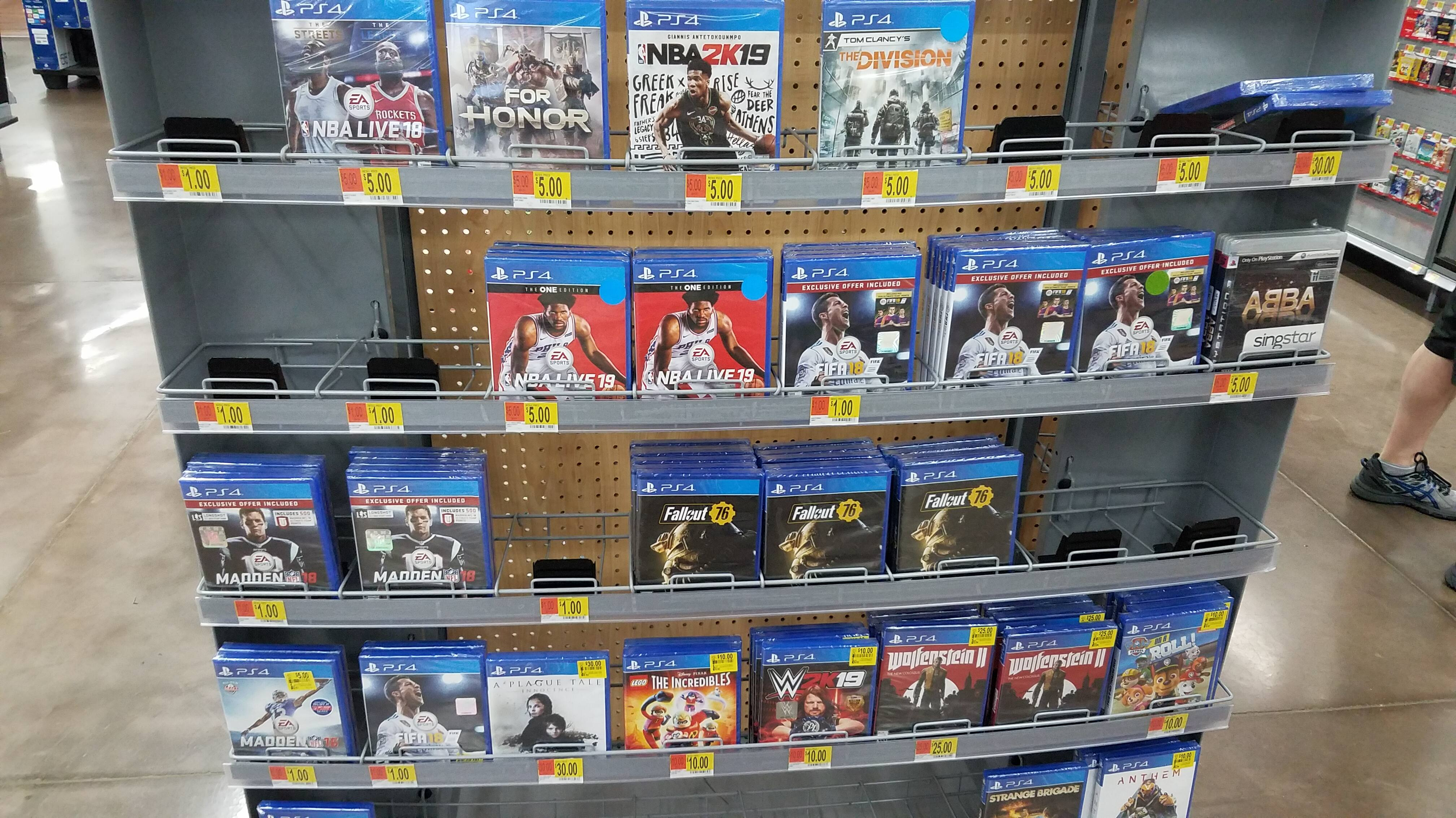 Wal-Mart PS4 Game Clearance - $1, $5, $10 YMMV