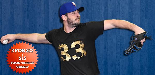 NY Mets - Matt Harvey Night (Apr 17th, Fri) - $33 includes 3 Tickets, $15 Credit for Food/Merchandise + Matt Harvey T Shirt