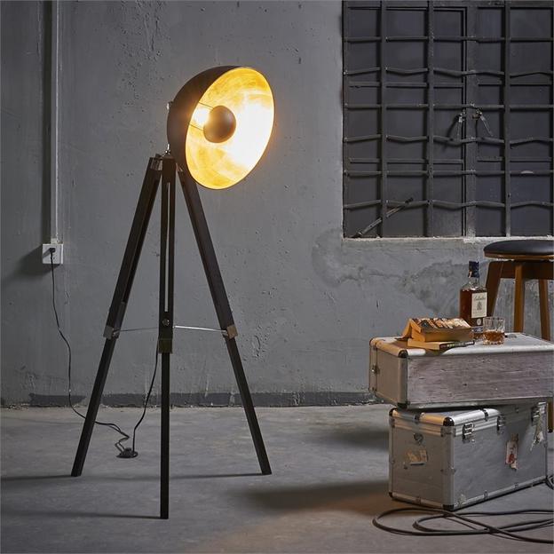 Sears Teamson Design Versanora Fascino Tripod Floor Lamp in Black $119.45 + Free S&H