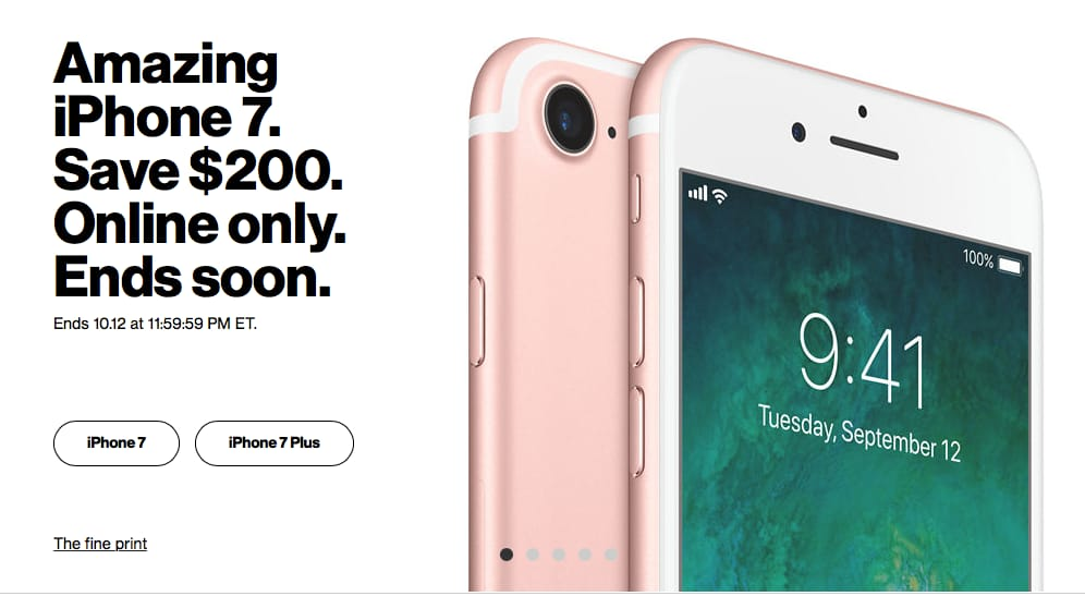 Verizon iPhone 7 & 7 Plus $449.99 and up Free Shipping & Pick Up