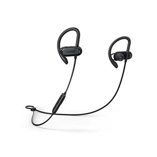 Soundcore Spirit X Sports Earphones by Anker, with Wireless Bluetooth 5.0, 12-Hour Battery, IPX7 SweatGuard Technology, Secure Fit for Sport and Workouts, with Mic $29.99