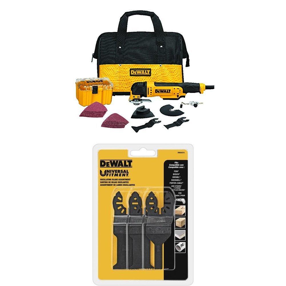 DeWALT DWE315K Multi Material Corded Oscillating Tool Kit with DWA4215 Oscillating 3-Piece Set [Oscillating tool w/ 3 pc accessory kit] $99