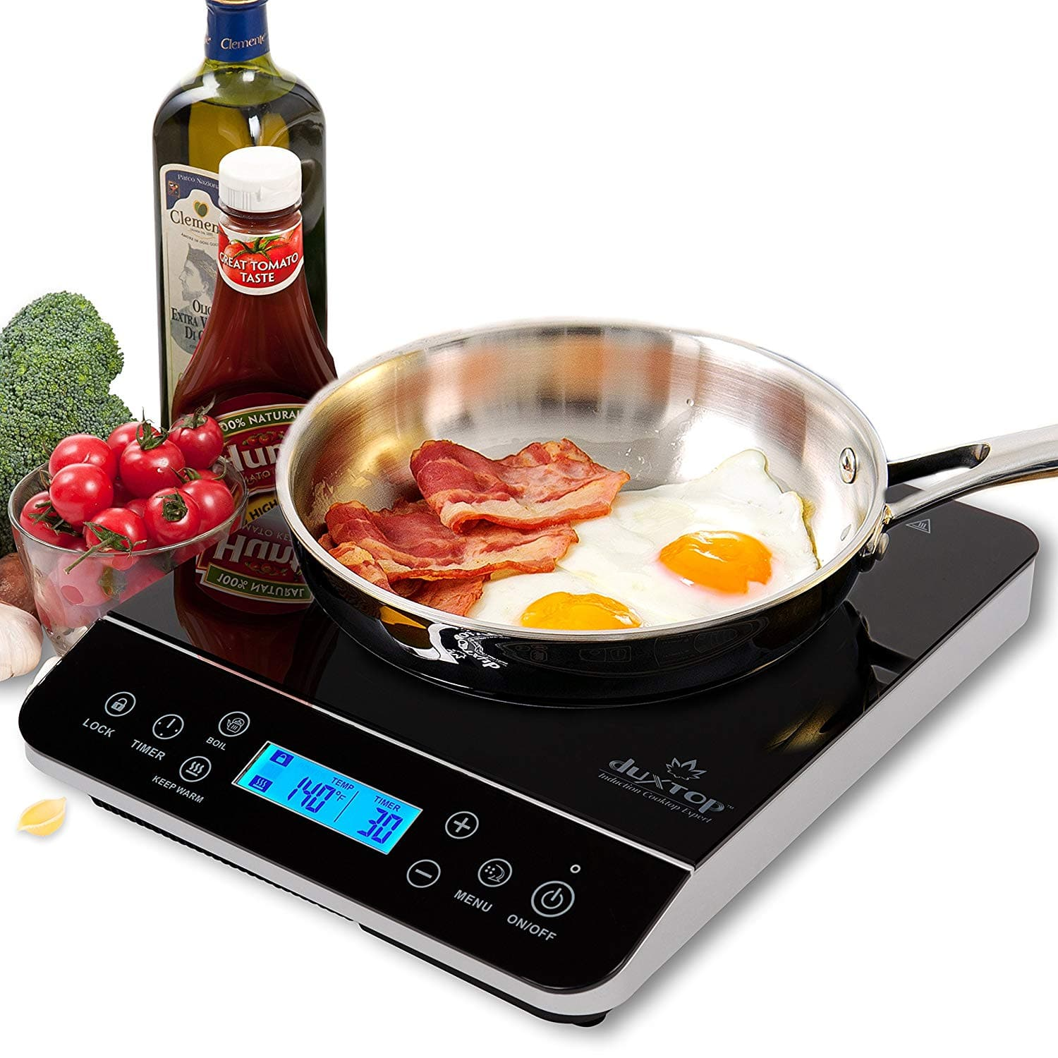 Duxtop LCD 1800-Watt Portable Induction Cooktop Countertop Burner 9600LS $74.99