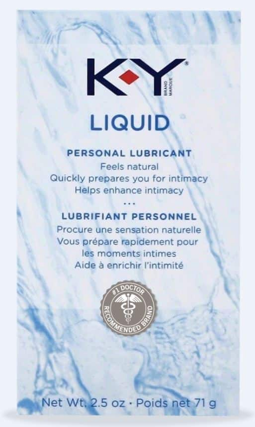 K-Y Liquid Personal Water Based Lubricant - 2.5 oz - Under 1 hour delivery ((Check goPuff to see if they deliver in your area)) $5.99